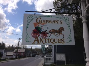 Chapman's Antiques Downtown Shop Sign